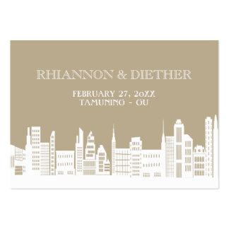 Urban City Wedding Place Cards