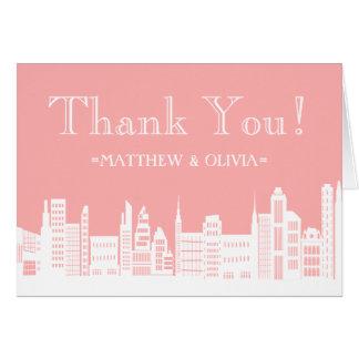 Urban City Wedding Thank You Cards