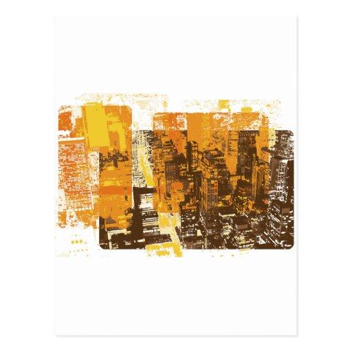 Urban Cityscape Postcard