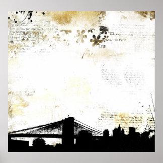 urban cityscape poster