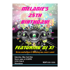 Urban Club Hip Hop Dancing Party Invitation