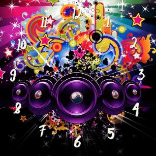 90s Music Wall Clocks | Zazzle