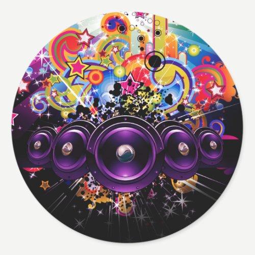 Urban Club Hip Hop DJ Dancing Dance Party Classic Round Sticker