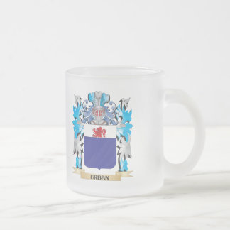Urban Coat of Arms - Family Crest Frosted Glass Coffee Mug