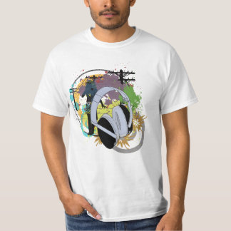 urban collage music inspired design T-Shirt