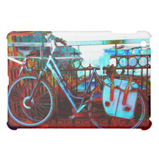Urban colorful bike collage - amsterdam series iPad mini cover