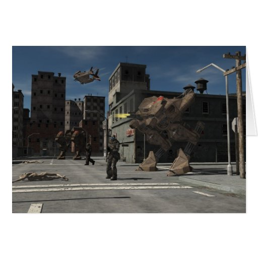 Urban Combat Patrol - Zombie Central Greeting Card