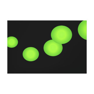 Urban Complexity Lime and Black Large Canvas Art 2