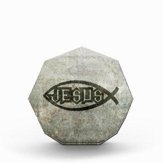 Urban Concrete Jesus Fish Acrylic Award