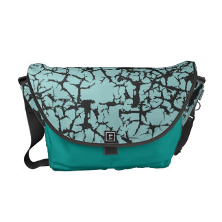 Urban Cracked in Teal Messenger Bags