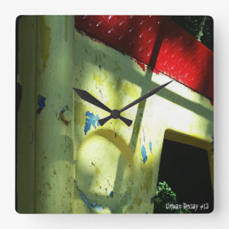 Urban Decay #13 Square Wall Clock