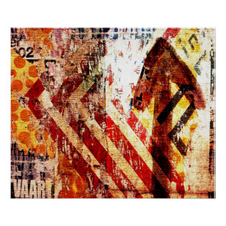 urban decay abstract art poster