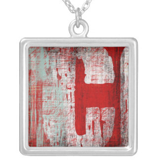 urban decay monograms square pendant necklace