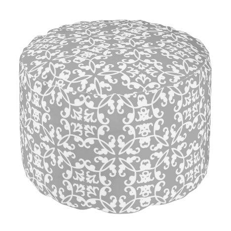 Urban decor grey pattern pouf footstool beanbag