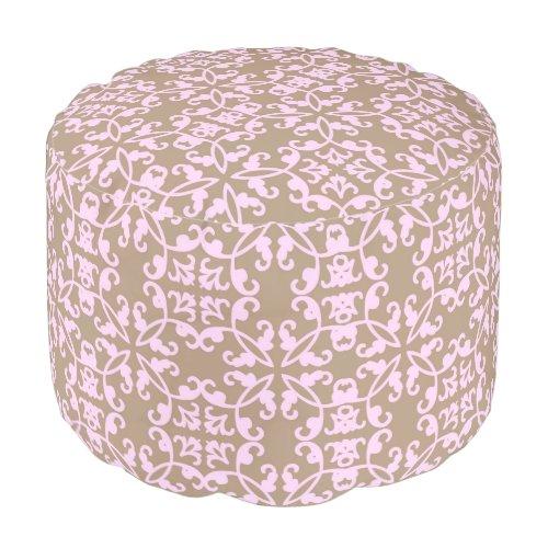 Urban decor tan pouf footstool beanbag