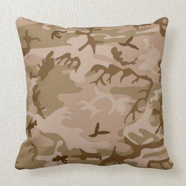 Urban Desert Camouflage Throw Pillow