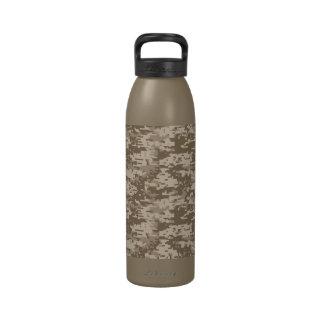 Urban Desert Digital Camo Pattern Reusable Water Bottles