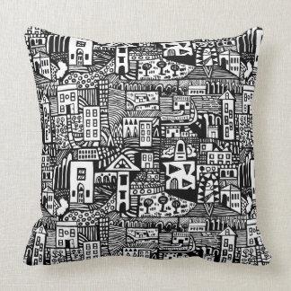 Urban Dream - Black Throw Pillow