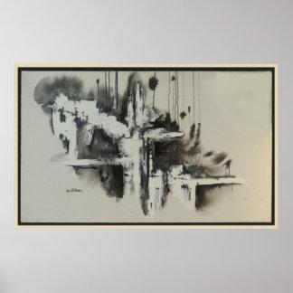 Urban Dreams Abstract Poster