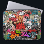 """Urban dynamic street art Graffiti art pattern Computer Sleeve<br><div class=""""desc"""">This modern full seamless Urban dynamic and explosive street art Graffiti pattern is not only reserved for hip hop artists but for everyone regardless of age and background. Great gifts for friends who want a stunning and creative pattern design,  who want to express themselves as a creative artist.</div>"""