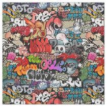 Urban dynamic street art Graffiti art pattern Fabric