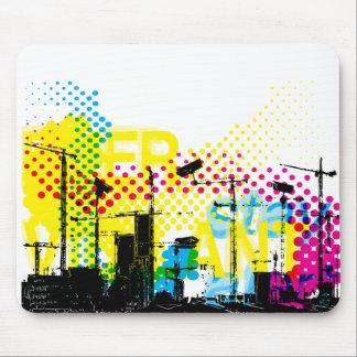 Urban dystopian landscape mouse pad