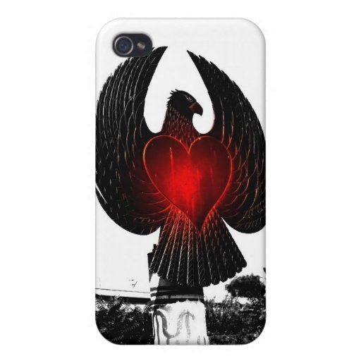 Urban Eagle Heart Cover For iPhone 4