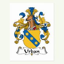 Urban Family Crest Postcard