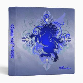 Urban Fantasy Blue Unicorn Class Of  Binder