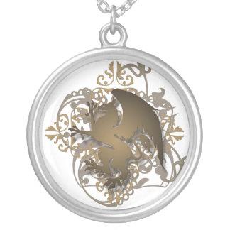 Urban Fantasy Bronze Griffin Chain Necklace