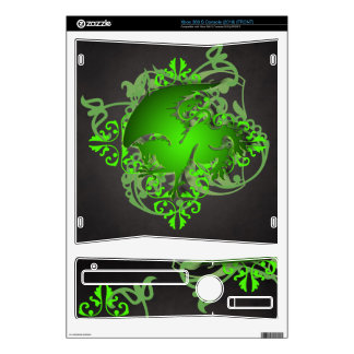 Urban Fantasy Green Griffin Black Xbox Skin Decals For The Xbox 360 S