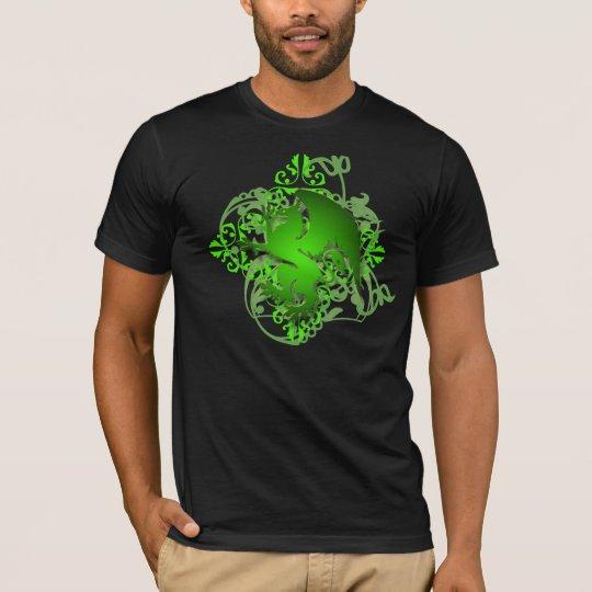 Urban Fantasy Green Griffin Grunge Mens T-Shirt