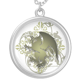 Urban Fantasy Olive Griffin Chain Necklace