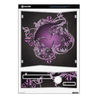 Urban Fantasy Pink Griffin Black Xbox Skin Xbox 360 S Console Skins