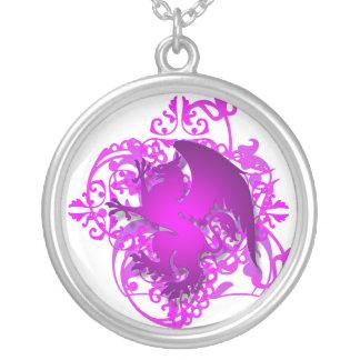 Urban Fantasy Pink Griffin Chain Necklace