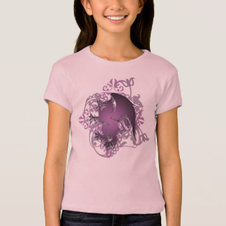 Urban Fantasy Plum Griffin Grunge Kids T-Shirt