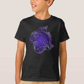 Urban Fantasy Purple Griffin Grunge Kids T-Shirt