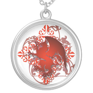 Urban Fantasy Red Griffin Chain Necklace
