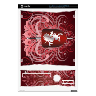 Urban Fantasy Red Unicorn Xbox Skin Decals For Xbox 360 S