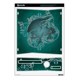 Urban Fantasy Teal Griffin Xbox Skin Xbox 360 S Console Decal