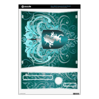 Urban Fantasy Teal Unicorn Xbox Skin Xbox 360 S Console Decal