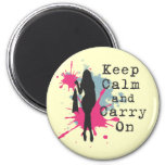 Urban Fashion Keep Calm and Carryon 2 Inch Round Magnet