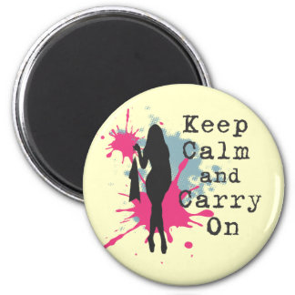Urban Fashion Keep Calm and Carryon Magnet