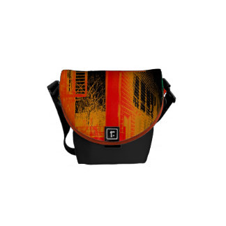 urban fire escape abstract small bag commuter bag