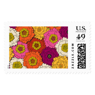 Urban Floral Postage Stamps
