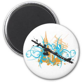 Urban Flute 2 Inch Round Magnet