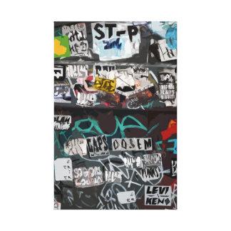 Urban Flyposting on Dumpster Art Canvas Print
