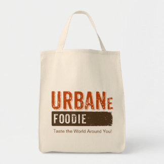 Urban Foodie Brown Logo Grocery Tote