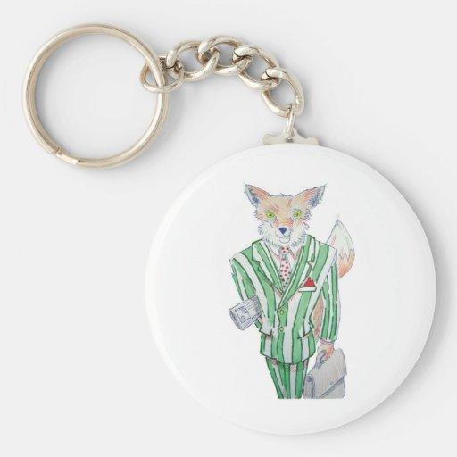 urban fox basic round button keychain
