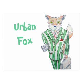 urban fox postcard